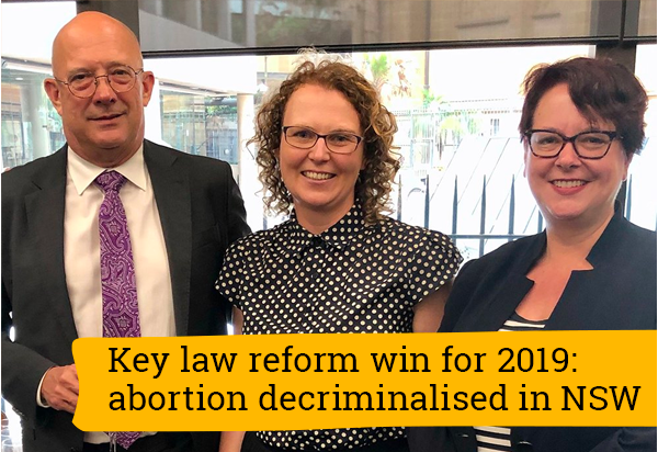 The law reform win for 2019: abortion decriminalised in NSW