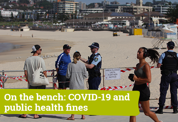 On the bench: COVID-19 and public health fines