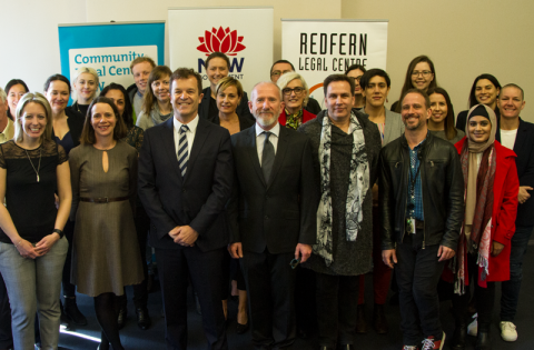 CLC Announcement at Redfern Legal Centre